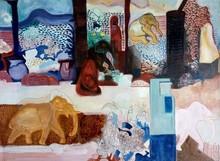 Figurative Mixed-media Art Painting title Untitled 2 by artist Krishnal Fulwala