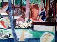 Figurative Mixed-media Art Painting title Untitled 3 by artist Krishnal Fulwala