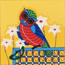 Animals Acrylic Art Painting title Owl by artist Thota Laxminarayana
