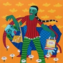 Thota Laxminarayana | Acrylic Painting title Untitled 2 on Canvas | Artist Thota Laxminarayana Gallery | ArtZolo.com