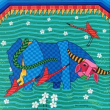 Animals Acrylic Art Painting title Untitled 5 by artist Thota Laxminarayana