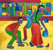 Figurative Acrylic Art Painting title 'Untitled 6' by artist Thota Laxminarayana