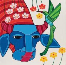 Thota Laxminarayana | Acrylic Painting title Untitled 7 on Canvas | Artist Thota Laxminarayana Gallery | ArtZolo.com