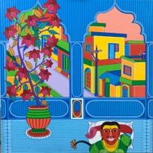Figurative Acrylic Art Painting title 'Untitled 7' by artist Thota Laxminarayana