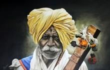 Warkari | Painting by artist Prasad Karambat | acrylic | Canvas Board