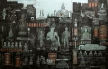 art, printmaking, etching, paper, religious, buddha