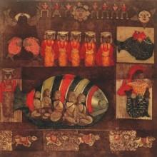 Uma Shanker Shah | Ramayan 1 Printmaking by artist Uma Shanker Shah | Printmaking Art | ArtZolo.com