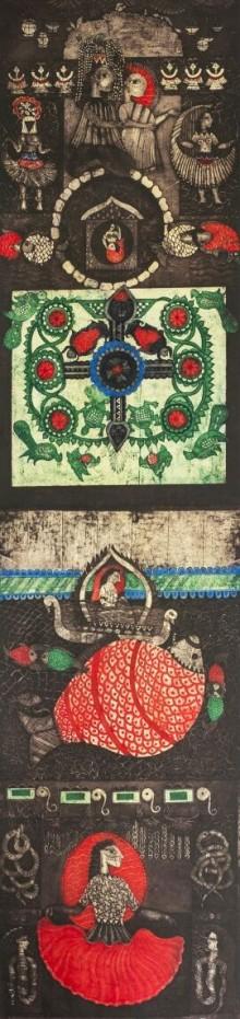 Uma Shanker Shah | Ramayan 3 Printmaking by artist Uma Shanker Shah | Printmaking Art | ArtZolo.com