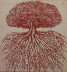art, printmaking, etching, paper, nature