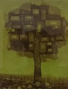 art, printmaking, etching, paper, nature