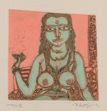 Figurative Intaglio Art Painting title Untitled 11 by artist Laxma Goud