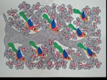 Traditional Indian art title Gond 10 on Paper - Gond Paintings