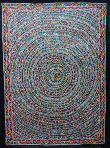 Mithilesh Jha | Madhubani Traditional art title Jungle on Paper | Artist Mithilesh Jha Gallery | ArtZolo.com