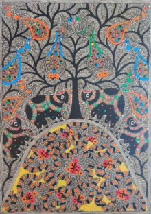 art, traditional, madhubani, paper, nature