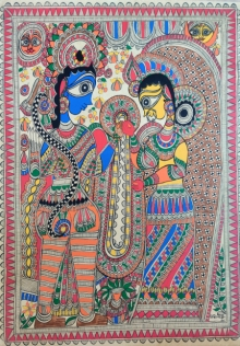 art, traditional, madhubani, paper, religious