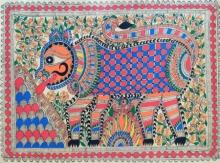 art, traditional, madhubani, paper, animal