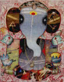 Ganesha 1 | Painting by artist G Subramanian | mixed-media | Canvas