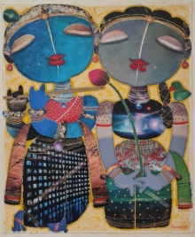 art, painting, mixedmedia, canvas, religious