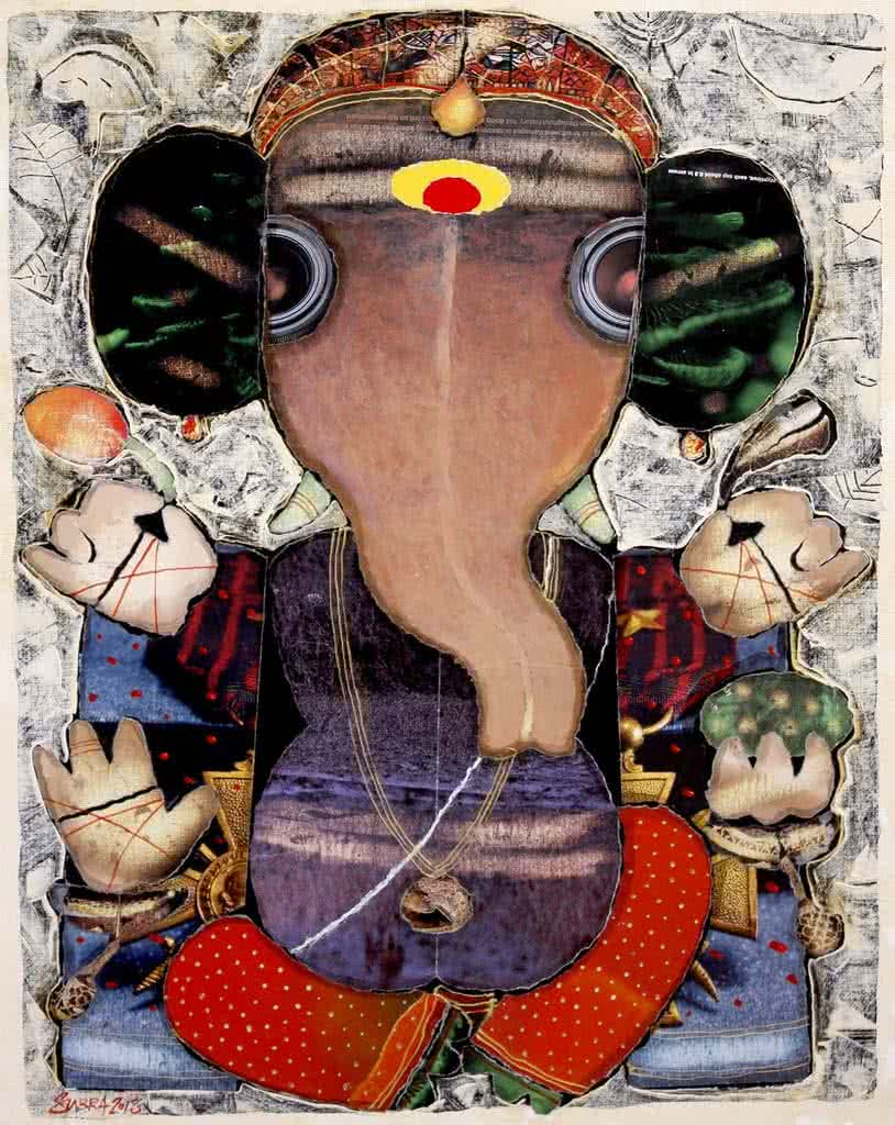 GANESHA 2 BY G SUBRAMANIAN | Ganesha Paintings