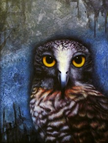 Owl | Painting by artist Ramesh Das | acrylic | Canvas