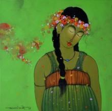 Brunatte 1 | Painting by artist Sanjay M Khochare | acrylic | Canvas