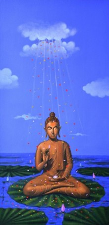 Divine | Painting by artist Sanjay M Khochare | acrylic | Canvas