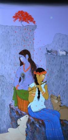 Enchanting | Painting by artist Sanjay M Khochare | acrylic | Canvas