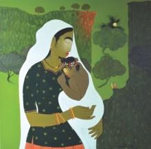 Motherhood | Painting by artist Sanjay M Khochare | acrylic | Canvas
