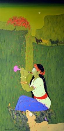 Swarokti | Painting by artist Sanjay M Khochare | acrylic | Canvas