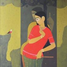 Valentine | Painting by artist Sanjay M Khochare | acrylic | Canvas
