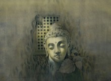 Gautama Buddha | Painting by artist Vishal Chavan | watercolor | Paper