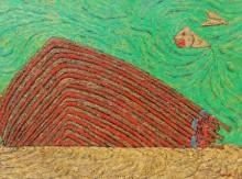 contemporary Oil Art Painting title The Trap by artist Suraj Nagwanshi