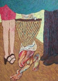 contemporary Oil Art Painting title 'Untitled 2' by artist Suraj Nagwanshi