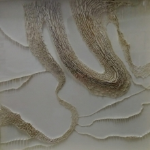 Mixed Media Painting titled 'Untitled 2' by artist Ganesh Selvaraj on Board