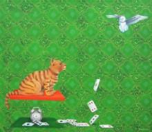 Kushal Kumar Paintings | Acrylic Painting - Game And Luck by artist Kushal Kumar | ArtZolo.com
