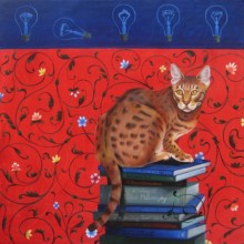 Kushal Kumar Paintings | Acrylic Painting - I Am Reading For by artist Kushal Kumar | ArtZolo.com