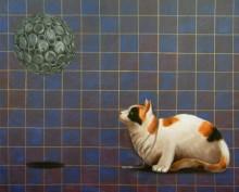 Kushal Kumar Paintings | Acrylic-oil Painting - I Have One Key by artist Kushal Kumar | ArtZolo.com