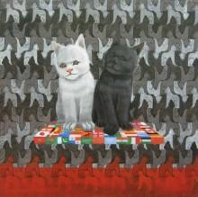 Kushal Kumar Paintings | Acrylic Painting - Internal Conflicts by artist Kushal Kumar | ArtZolo.com