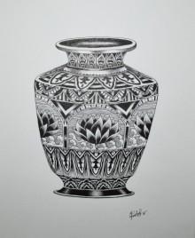 Pen Paintings | Drawing title Kumba on Paper | Artist Kushal Kumar