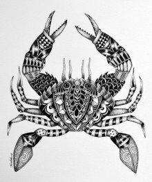 Animals Pen Art Drawing title 'Scorpion' by artist Kushal Kumar