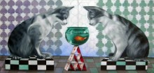 Kushal Kumar Paintings | Acrylic-oil Painting - Unknown Player by artist Kushal Kumar | ArtZolo.com