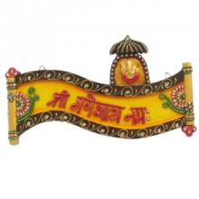 Ecraft India | Shree Ganeshay Namah Wall Hanging Craft Craft by artist Ecraft India | Indian Handicraft | ArtZolo.com