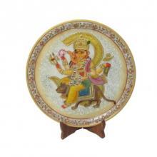 Ecraft India | Ganesh Rat Marble Plate Craft Craft by artist Ecraft India | Indian Handicraft | ArtZolo.com