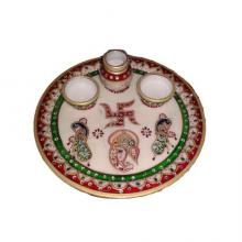 Ecraft India | Lord Ganesha Pooja Thali With P Craft Craft by artist Ecraft India | Indian Handicraft | ArtZolo.com