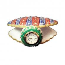 Ecraft India | Shell Clock Craft Craft by artist Ecraft India | Indian Handicraft | ArtZolo.com