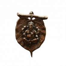 Metal wall hanging of Ganesha on Leaf | Craft by artist E Craft | Metal