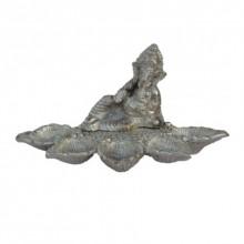 Lord Ganesha Figurine with Diya Holder | Craft by artist E Craft | Metal