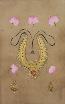 Unknown | Miniature Traditional art title Beautiful Necklace on Paper | Artist Unknown Gallery | ArtZolo.com