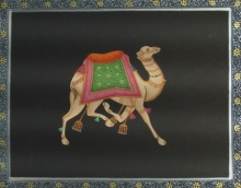 art, traditional, paper, miniature, animal, camel