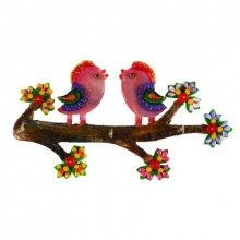 Colorful Love Birds Key Holder | Craft by artist E Craft | Paper
